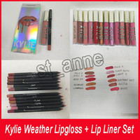 Kylie Weather Collection Lipgloss kit Matte Liquid Lipstick ...