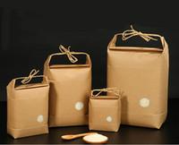 100pcs Nouveau produit sac d'emballage emballage / thé papier de riz / sac en papier kraft alimentaire Stockage du papier permanent