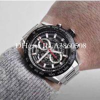 Высочайшее качество мужские спортивные часы 45 мм мужские часы из нержавеющей стали японские ВК Кварцевые хронограф Монр де Люкс Монтр