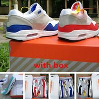 87 og Anniversary 1 OG scarpe 36-45 di trasporto con il contenitore di esecuzione scarpa da tennis di alta qualità dimensioni scarpe sportive