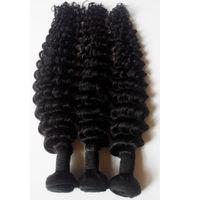 Peruviaanse Maleisische Braziliaanse menselijke haar inslag Natural Zwart 8-30 inch Diepe Golf Onverwerkte Europese Indiase Remy Hair Extensions 4pcs Dhgate