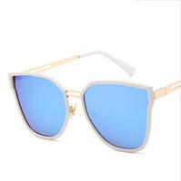 6c219faea8 Fashion Square Metal Sunglasses Donna Uomo Fancy Cute glasses Anti-riflesso  UV400 Mirror Occhiali da sole Miopia Air Shipping