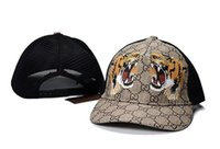 Hot Snake Tiger Bee Style Caps Mode Mesh Ball Caps Hommes Femmes Sport Visor Cap Réglable Baseball Caps pour Golf Pêche Summer Ball Cap