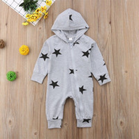 Newborn Baby Boy Girl Stars Print Romper Long Sleeve Autumn ...