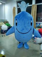 2018 di alta qualità EVA Adult Blue Whale Mascot Costume blu balena mascotte costume balena mascotte Costume