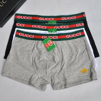 U Conves Cotton Men Underpants Fashion Letter Embroideried Boxer per uomo di alta qualità maschile traspirante intimo