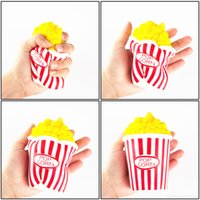 50pcs DHL Popcorn Cup Squishy Slow Rising Decompression Easter Phone Strap Подвеска Игрушка Kawaii Squishy Попкорн Ароматизированный Squeeze Toys Gift