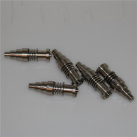 Gli ultimi 10/14/18 millimetri 6 in 1 chiodi di titanio / quarzo ibrida E-Nails per 16 millimetri enail Coil, piattaforme petrolifere bong