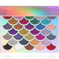 Moda Kadınlar Güzellik Clich Kozmetik Mermaid Glitter Prizma Paleti Göz Makyaj 32 renk Göz Farı Paleti DHL ücretsiz kargo