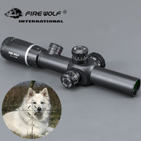 النار الذئب 2-7x24 جديد riflescopes بندقية نطاق الصيد نطاق ث / يتصاعد بندقية نطاق يتصاعد لالادسنس قناص بندقية