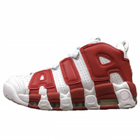 Best Quality Air More Uptempo OG Mens Basketball Shoes Red W...
