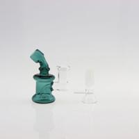 Mini Bong Recycler Small Dab Rigs Giunto femmina 14mm con vaschetta in vetro gratuita Heady Glass ToroGlass economici Tubazioni acqua in vetro piccolo Bubbler