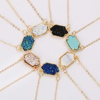 kendra style Resin druzy necklace fashion designer necklace ...