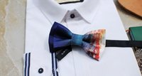 Double- layer deep sea sunshine handmade bow tie men and wome...