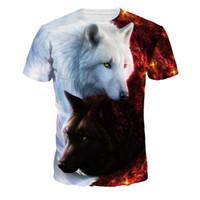 EHUANHOOD мужская футболка Harajuku подросток Волк 3D Майка мужчины с коротким рукавом летние топы мода футболка О-образным вырезом сжатия рубашка тройник