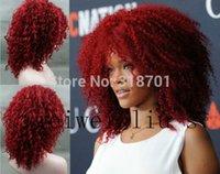 Ly CS дешевые продажа танцевальная вечеринка cosplaysNew мода прическа Рианны монолитный синтетический средний вьющиеся волосы парик