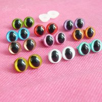 100pcs- - - new 9mm plastic safety toy cat eyes for plush doll...