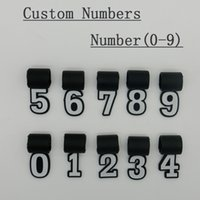 Número 0-9 pingente de silicone grande para colar de titânio de beisebol