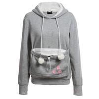 Cat Lovers Толстовки с обниматься мешок Собака Pet Толстовки для повседневной пуловеры кенгуру с ушами Толстовка Xl Оптовая