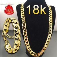 Halskette Gold Mode Luxus Jewerly 18 Karat Gelb vergoldet Für Frauen Und Männer Kette Punk Anhänger Zubehör ACC063