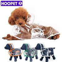 HOOPET Dog Clothes transparente capa de chuva roupas leves à prova d 'água bonito pequeno cão capa de chuva com capuz