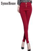 Printemps Automne Mince Femmes Pantalon Style De Mode, Plus La Taille XXXL Leggings taille haute Stretch Crayon Pantalon Femmes Pantalon Maigre
