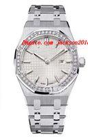 """ساعة اليد الفاخرة 40th الذكرى """"الأبيض"""" سيدة الفولاذ المقاوم للصدأ سوار الماس ST.ZZ.1261ST.01 ساعات الكوارتز 33MM ووتش أعلى جودة"""