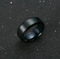 Ring Men Titanium Black fashion male rings luxury brand for ...