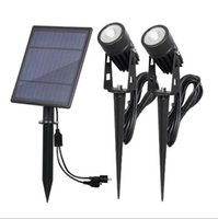 HOT sale Solar Powered Spotlights IP65 6w Waterproof Die- cas...