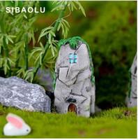 1pc Simulazione Rockery House Figura Pietra Cottage mini fairy garden Cartoon Micro Paesaggio serbatoio di pesce animali statua mestiere in resina