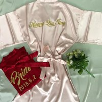 Personalized Wedding Stain Robes Bride be to party bridesmai...