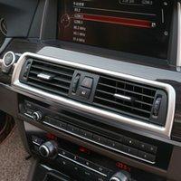 Krom ABS Klima Vent çerçeve kapak BMW f10 için interior payetler hava çıkış paneli dekoratif şerit Döşeme 5 serisi 2011-17