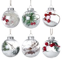 Christmas Decorations Ball Transparent Can Open Plastic Chri...