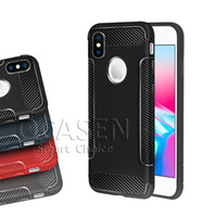 Coque de protection TPU souple en fibre de carbone ultra-fine de haute qualité pour iPhone 6 7 8 Plus X XR XS MAX Samsung Note 9 S9