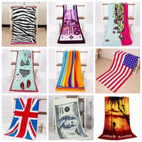 12 Styles 140*70cm Soft Printed Flag Beach Towel new Outdoor...