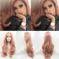 Fashion Orange Pink Lace Wig Mixed Color Glueless Long Natur...