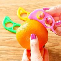 البرتقال مقشرة البلاستيك لون الحلوى الليمون القطاعة zesters 2.5 سنتيمتر * 7.5 سنتيمتر الحمضيات سكين القاطع الفاكهة المتعرية الحمضيات