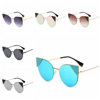 Metal Cat Eyes Sunglasses Women Polarized Retro Driving Fish...