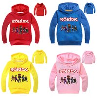 Autunno Roblox T-Shirts Girls Boys Felpa Red Noze Day Costume bambini Sport Shirt Bambini Felpe con cappuccio a maniche lunghe T-shirt Top Tees LE157