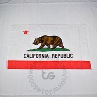 California State Flag-Raum hängende Dekoration Freie Verschiffen 3x5 FT / 90 * 150cm Hängen Nationalflagge Kalifornien Home Decoration Flagge Fahne