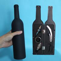 5 Pz / set Wine Opener Set di strumenti Apribottiglie Stopper Drip Ring Wine Pourer Apribottiglie in acciaio inox Abridor De Garrafa