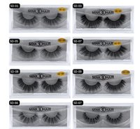 Pestañas MINK 11 estilos Venta de 1 par de lotes Real Siberian 3D Full Strip False Eyelash Long Individual Mink Lashes Extension 2019