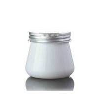 80g entzückendes HAUSTIER Plastikglas 80ml weiße Farbkosmetikverpackungs-Cremetiegel mit Aluminiumkappe QW7005