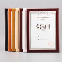 벽 마운트 수조 졸업장, 인증서, 그림 및 포스터에 대한 단단한 나무 나무 Certficate 프레임 WP006
