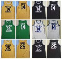 MENS BEL-AIR'in Taze Prensi Moive 14 Smith Bel-Hava Akademisi Basketbol Jersey Ucuz 25 Carlton Bankaları Dikişli Basketbol Gömlek