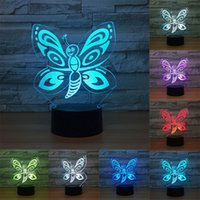Butterfly 3D lamp Led Night Light Lamp LED desk table nightl...