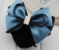 Fashion Office Lady Bow Tie Barrette Hair Clip Cover Bowknot...