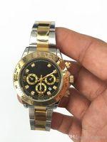 relojes de lujo wist moda Dial Negro Con Calendario Bracklet Broche Maestro Hombre giftluxury El verdadero tiroteo Relojes relogio masculinomens