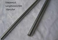 10 шт. / лот 6x900mm диаметр 6 мм линейный вал 900мм долго закаленный вал хромированный стальной стержень бар для 3D принтер частей cnc маршрутизатор