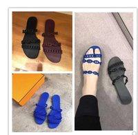 2018 summer new chain flip flop fashion wear plastic slipper...